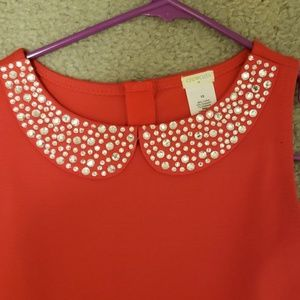 Girls Size 12 J Crew crewcuts red dress